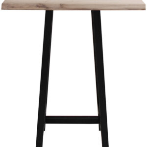 Barbord, Komplet sæt, Curve plade + Bar stel by House of Sander (H: 103 cm. B: 72 cm. L: 72 cm., Lys Natur/Sort)