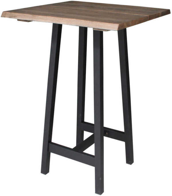 Stel til barbord, Bar, bordben by House of Sander (H: 100 cm. B: 85 cm. L: 45 cm., Sort)