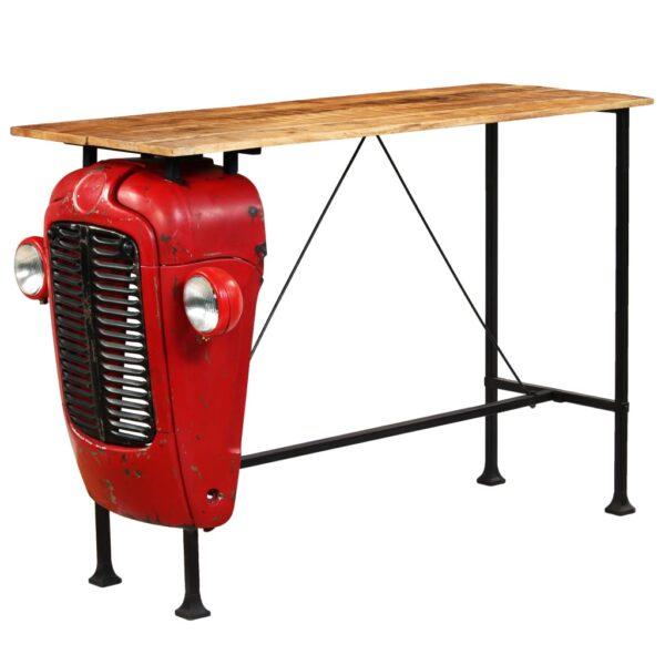 vidaXL traktor-barbord i massivt mangotræ rød 60 x 150 x 107 cm