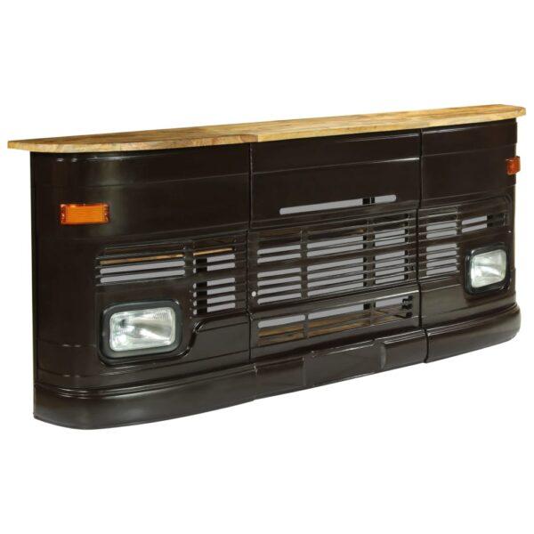 vidaXL barbord i lastbilsdesign massivt mangotræ mørkegrå