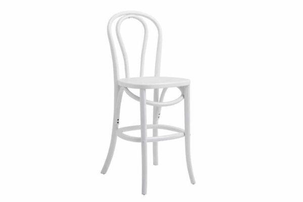 Bistro barstol i hvidlakeret træ fra Nordal