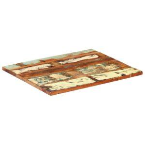 vidaXL rektangulær bordplade 60x70 cm 25-27 mm massivt genbrugstræ